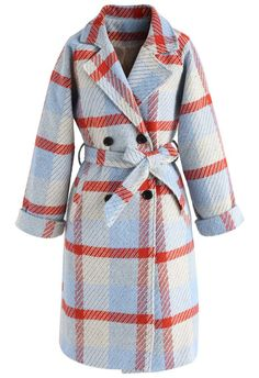"""Winsome red, lose some """"What to Wear"""" confusion. This longline tweed coat is how you elevate all your super casual denim outfits. Win all fall in this baby.  - Notched lapel - Belt accompanied - Double-Breasted button closure - Side pockets - Split hem - Lined - 100% Polyester - Hand wash/Dry clean  Size(cm)Length Bust Waist Shoulder Sleeves XS        93    96   94    39     50 S         94    100   98    41     51 M         95   ..."""