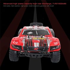 87.30$  Buy now - http://ali1g4.worldwells.pw/go.php?t=32738550210 - REMO RH1/RH2 1/16 2.4G 4WD Brush RC Short Course Truck High Speed High Intensity Magnetic Motor RC Car Remote Control Toys 1621 87.30$