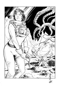 """Omaggio di IAlex Massacci per """"The Shadow Planet"""", progetto Radium in crowdfunding. #scifi #comics #character #crowdfunding"""