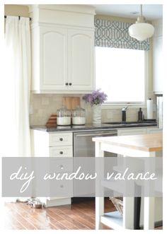 A Burst of Beautiful: Easy DIY Kitchen Valance