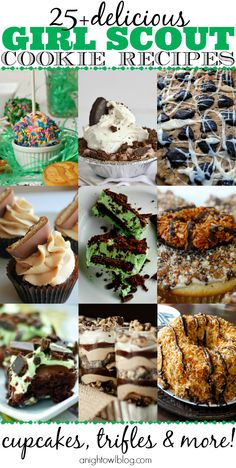Over 25 amazing Girl Scout Cookie Recipes
