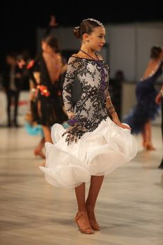 Adorable youth Latin dance dress.