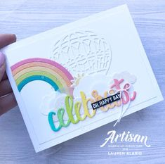 Crafty Little Peach: Stampin' Up! Celebrate You Rainbow Birthday Card