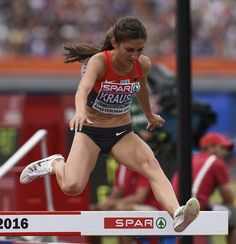 Germany's Gesa-Felicitas Krause competes the 3000 Steeplechase women final during the European Athletics Championships in Amsterdam at the Olympic Stadium on July 10, 2016. / AFP / JOHN THYS