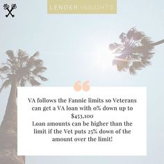 @coupleofagents || Are you a #vet or know one? Fannie Mae loans offer special deals to veterans when buying homes. Vets can put 0% down and get approved for up to $453,100!! Where would you buy a home with that kind of money? #CoupleOfAgentsRealEstate