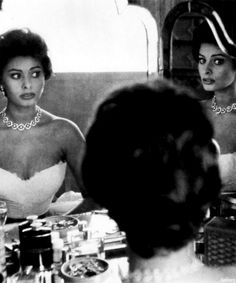 Sophia Loren, 1957.  Not a fan of hers.  Just pinning it because it has a nice vanity.
