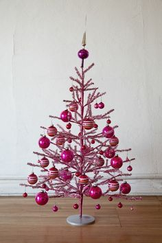 Pink Christmas Tree by Eggnog #modern
