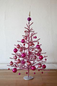 Pink Christmas Tree by Eggnog #modern