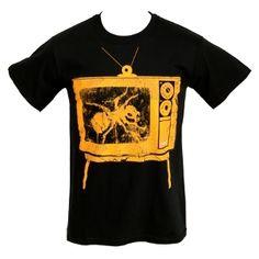 Buy Online The Prodigy - Orange Neon TV on Black T-shirt