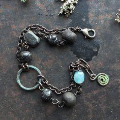 Rustic spiral bracelet ancient style amulet bracelet by solekoru