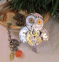 A personal favorite from my Etsy shop https://www.etsy.com/listing/269416332/steampunk-owl-necklace-watchpart-owl