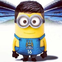 "MlNlON on Twitter: ""Kun Agüero From Manchester City #minions ..."