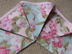 Beautiful Love and Liberty Shabby and Chic, Baby Nursery, Photo Prop, Shower Fabric 5 Bunting Flags - 4.5 Feet - READY TO GO. $14.00, via Etsy.