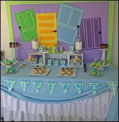 Disney Party Ideas: Monsters Inc. Fiesta Monster University, Monster University Birthday, Monster Birthday Parties, 3rd Birthday Parties, Boy Birthday, Birthday Ideas, Monsters Inc Boo, Monsters Inc Baby Shower, Monster Baby Showers