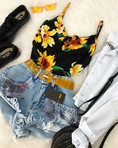 Pin by Katelyn Mapes on Outfits in 2019 Cute Summer Outfits, Cute Casual Outfits, Stylish Outfits, Spring Outfits, Swag Outfits, Girl Outfits, Fashion Outfits, Teenager Outfits, Outfits For Teens