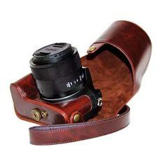 >> Click to Buy << High quality Camera Bag with Camera Strap PU Leather Case For Panasonic Lumix DMC-FZ1000 FZ1000 DSLR Camera Accessories #Affiliate