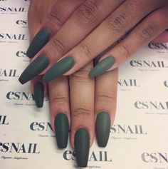 Cute matte green color. Nice neutral and different.