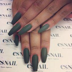 long nails #green