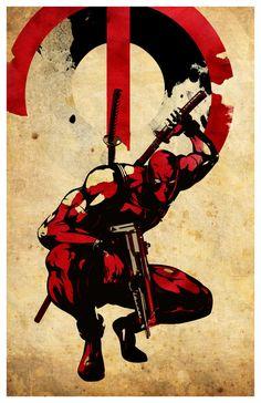 Minimalist Superheroes Poster Deadpool by MINIMALISTPRINTS