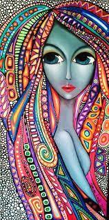Romina lerda art drawings, pintura graffiti, dot painting, world of color, art Modern Art, Art Painting, Face Art, Art Drawings, Drawings, Art, African Art, Zentangle Art, Pop Art