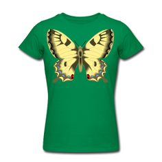 Butterfly Line 2  Women's Slim Fit T-Shirt by American Apparel  Slim-fitting Soft Jersey T-Shirt, 100% cotton, Brand: American Apparel   It is recommended to order a size up if looking for a more relaxed fit. Shrinkage levels fall within 3-4% of industry standards.   $27.40
