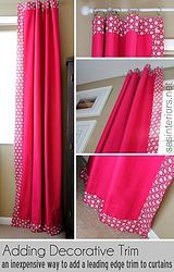 how to add decorative trim to curtains, crafts, reupholster, window treatments