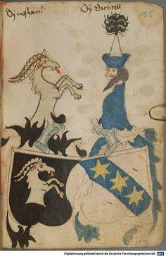 Ortenburger Wappenbuch Bayern, 1466 - 1473 Cod.icon. 308 u Folio 105r