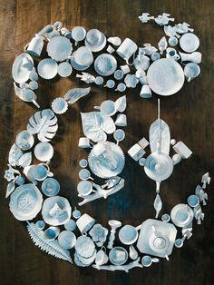 NYT Magazine logo in ceramics