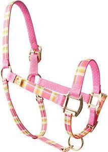 Madras Pink High Fashion Horse Halter