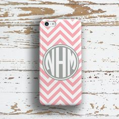 Monogram Iphone 4 case Chevron Iphone 6 Plus case by ToGildTheLily