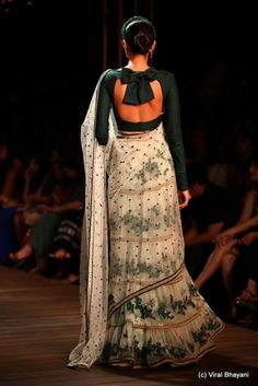 Ghaghra choli with bow tie blouse