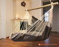 Breakfast bar chairs ceilings 58 ideas for 2019 Diy Hammock, Hanging Hammock Chair, Swinging Chair, Hammock Ideas, Indoor Hammock Bed, Hammock In Bedroom, Garden Hammock, Hammock Swing Chair, Bar Chairs