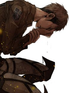 Jean, Shingeki No Kyojin (20 bucks he's crying over Marco omfg)( (Everyone's life he's crying over Marco)