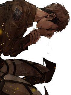 Jean, Shingeki No Kyojin (20 bucks he's crying over Marco omfg)( (Everyone's life he's crying over Marco)