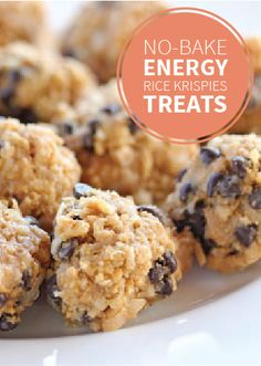 These No-Bake Rice Krispie® Balls are filled with creamy peanut butter, chocolate chips, and Rice Krispies® cereal for a tasty crunch. Surprise the kiddos after school with a batch of these or sneak a (Chocolate Butter Rice Krispies) Yummy Snacks, Snack Recipes, Cooking Recipes, Yummy Food, Healthy Recipes, Healthy Dishes, Healthy Desserts, Breakfast Recipes, Rice Krispies