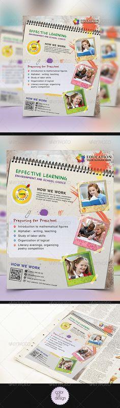 Free Child Care Flyer Templates early learning preschool flyer - sample preschool brochure