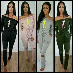ANOSS Clothing Off the shoulder Jumpsuit for orders call or text 2058865004