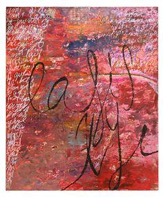 "Sarah Budensiek (Earle) | Just the Happy Ones, 2007 | encaustic collage on panel,  36""x22"" /sm"
