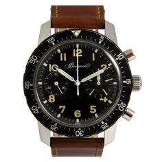 Breguet Stainless Steel Aeronavale Type XX Military Chronograph Wristwatch circa 1969
