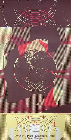 EARTH (2014) Screenprinted Poster arrache toi un oeil