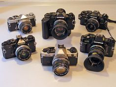 My Olympus OM camera collection...