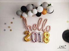 Hello 2018 rose gold 16 balloons rose gold balloons