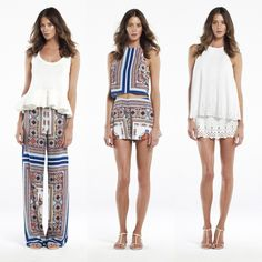 becbridge resort styles : palazzo pant + crop top , blanco knitted top + claudia dress