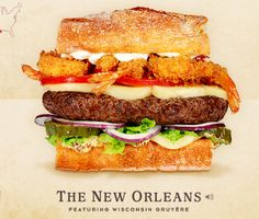 "The New Orleans - This is a great site.  Take the time to check out all the burgers.  The guy describing them is classic!  Don't forget to ""meet the cheese"""