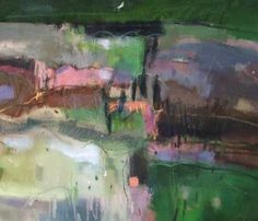 Andy Waite DESCRIPTION:Semi abstract expressionist landscape. Oil on Canvas.  Location: Tuscany  £850