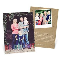 Photo Christmas Cards  -- Ombre Greeting Vertical