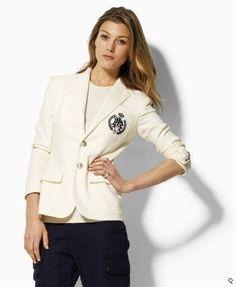 Polo Custom Wool Blazer Classic Cream $276.60