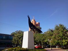 """Homenaje a la """"María Mulata"""" o """"Cocinera"""" ave representativa de Barranquilla. Con este ícono se le rinde tributo a esta especie nativa de la Región Caribe, que destaca por su pico largo y su plumaje negro azabache."""