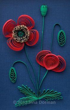 Paper Quilling Art: Poppy Flowers :: by Inna Dorman