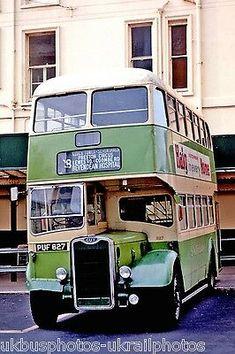 Southdown 527 Guy Arab Bus Photo Ref London Transport, Public Transport, Little Bus, Transport Posters, Routemaster, Worthing, Double Decker Bus, Bus Coach, London Bus